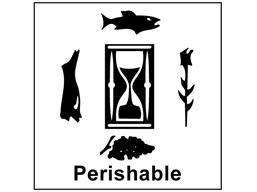 Perishable heavy duty packaging label