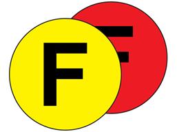 Aisle floor markers, F