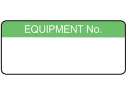 Equipment number equipment label