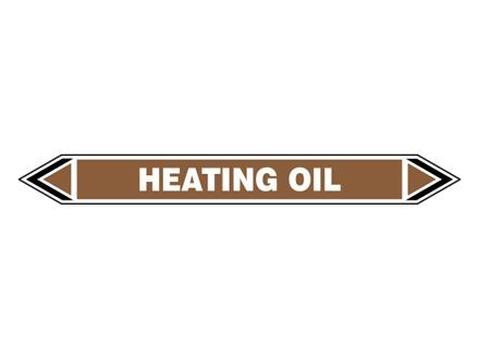 Heating oil flow marker label.