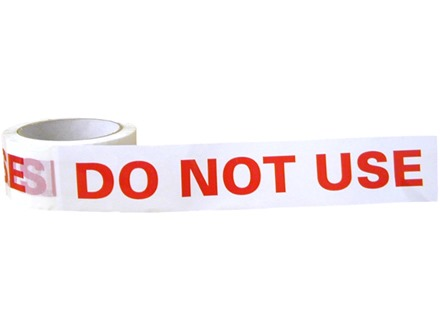 Do Not Use Tape Qt1240 Label Source