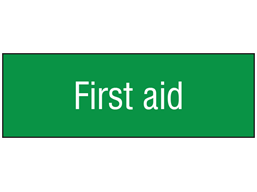 First aid, engraved sign.