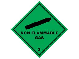 Non flammable gas 2 hazard warning diamond sign