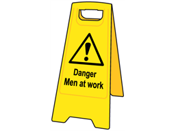 A-board, danger men at work