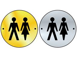 Unisex symbol door sign.
