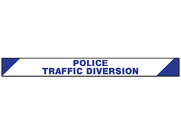 Police, traffic diversion barrier tape