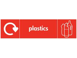 Plastics WRAP recycling signs