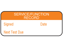 Service function record maintenance label.