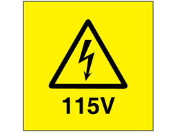 115V Electrical warning label