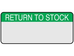 Return to stock aluminium foil labels.