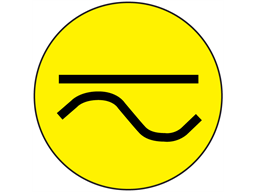 Direct and alternating current symbol label.