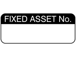 Fixed asset number maintenance label.