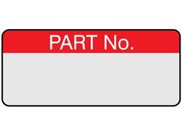 Part number aluminium foil labels.