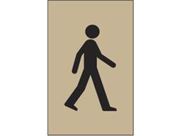 Pedestrian symbol heavy duty stencil