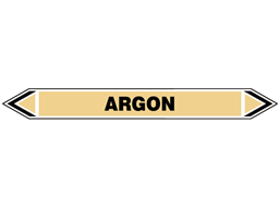Argon flow marker label.