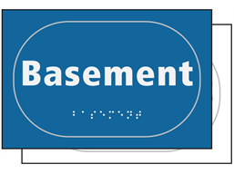 Basement sign.
