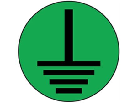 Earth symbol label (black on green)