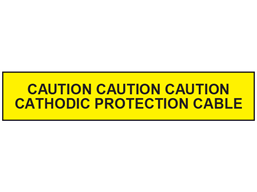 Caution cathodic protection cable below tape.