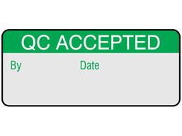 QC accepted aluminium foil labels.