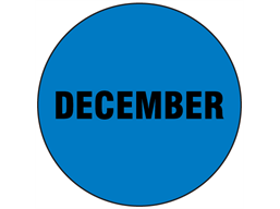 December inventory date label