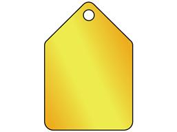 Blank Pentagonal Brass Tag