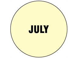 July inventory date label