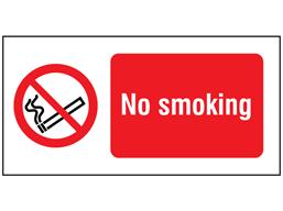 No smoking label.