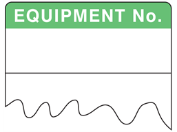 Equipment number cable wrap label
