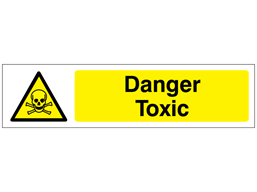 Danger Toxic, mini safety sign.