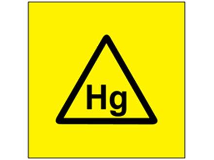 Hg (mercury) symbol label.