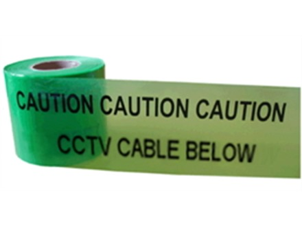 Caution cctv cable below tape.