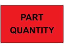 Part quantity labels