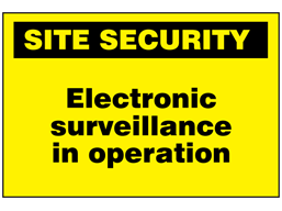 Electronic surveillance in operation sign