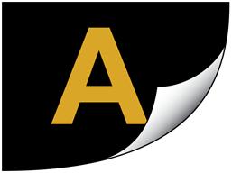 Gold on black gloss tape (P-Touch printer range)
