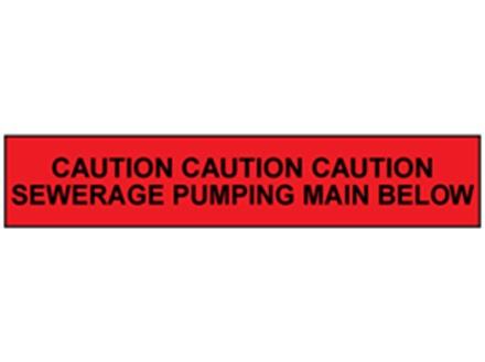 Caution sewerage pumping main below tape.