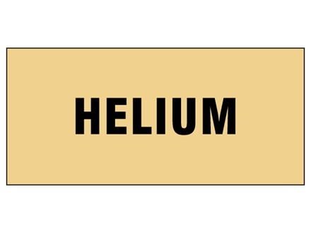 Helium pipeline identification tape.