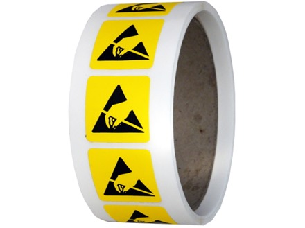 ESD Static warning symbol label.