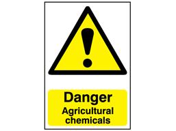 Danger, Agricultural chemicals safety sign.