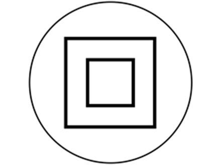 Protection isolation symbol label