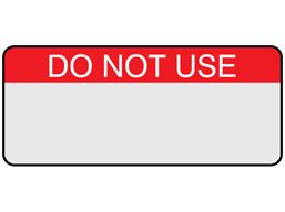 Do not use aluminium foil labels.