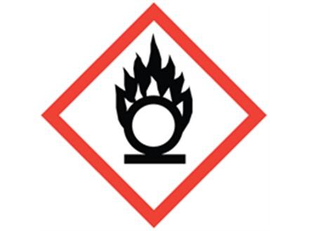 GHS oxidiser hazard label