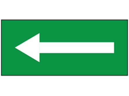Safety and floor direction tapes, white arrow on green.