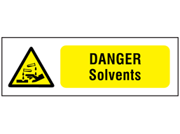 Danger solvents safety sign.