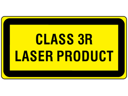 Class 3R laser equipment warning safety label.