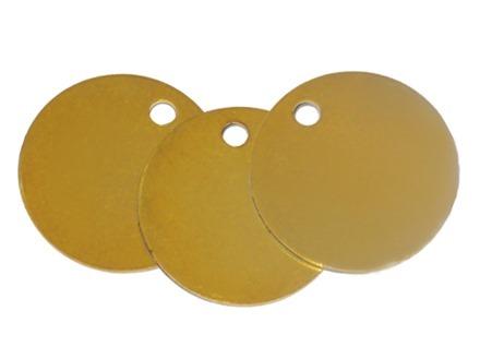 Blank Circular Brass Tag
