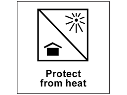 Protect from the heat heavy duty packaging label