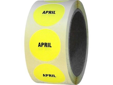 April inventory date label