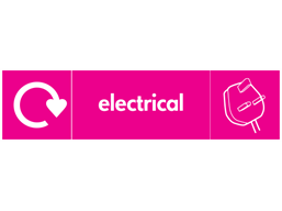 Electrical WRAP recycling signs