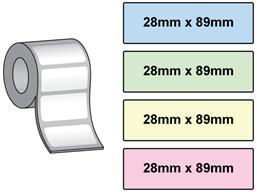 Dymo labelwriter coloured standard address labels