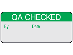 QA checked aluminium foil labels.